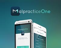 MalpracticeOne App UI & UX Design