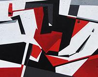 White Grey Black Red