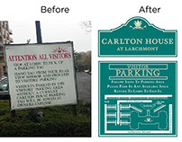 Outdoor Parking Signage - Before & After