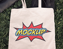 Fabric Eco Bag Mockups