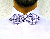 Portuguese Tile Origami Bow Tie
