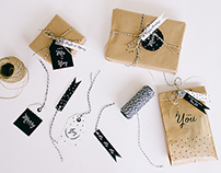 Printable Christmas Gift Tags & Paper bags