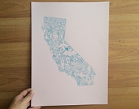 Illustrated California Map