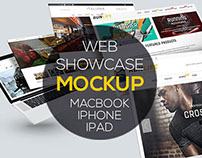 Web Showcase PSD Mockups Macbook | iPhone 6 | iPad