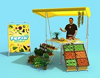 Portable stand for green markets