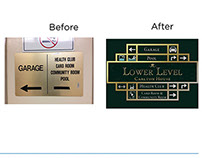 Indoor Signage Solutions - Before & After