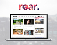 Roar.lk Web Interface Design
