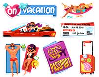 Romantic Getaway Viber Sticker Pack