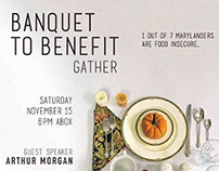 Event Advertisement: Banquet to Benefit
