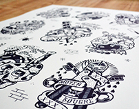 FLASH TATTOOS x Screenprinted Poster