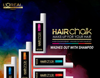 L'Oreal Hair Chalking Campaign