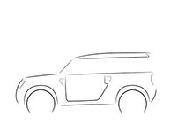 Land Rover DC100 Profile Sketches
