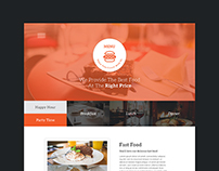 menu one page psd freebie