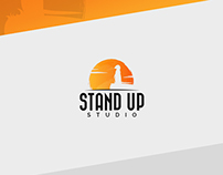 Stand Up Studio Logo Template