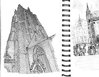 One month in Europe, Reportage Sketchbook