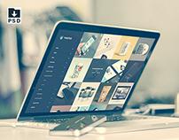 Macbook Pro Retina Mockup | Free PSD