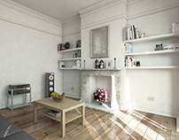 My living room (but a little bit nicer)! 3DS/VRAY/PS