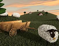 Campo com Ovelhas
