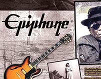John Lee Hooker Epiphone Guitar Promo Poster