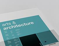 Arts & Architecture Magazine Layouts