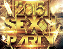 Sexy New Year Night Party Flyer