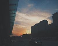 Early night sky