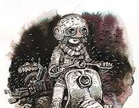 Color ink drawings. November 2014