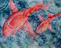 Yağmurun Altında Balıklar
