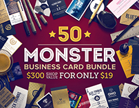 50 Monster Business Card Bundle