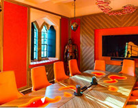 Energizing colours used in boardroom