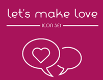 Let's make love- Icon set