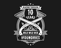 iFoundries.com 10 Years Anniversary T-Shirt Design