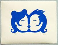 Besos / Kisses - Serigrafía / Silkscreen