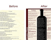 Wine Bar Menu Redesign - Before & After