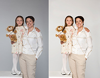 family portrait retouching