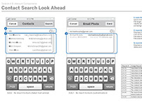 AT&T Mobile & Web Wireframes