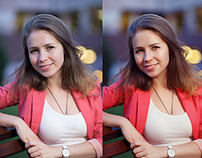 portraits on the street photo retouching