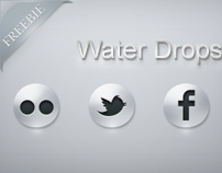 FREE Water Drop Social iCons