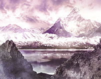 Snowy Mountains - Matte Painting