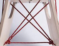 folding rope stool