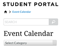 Event Calendar - Responsive Mobile View