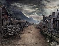 Matte Painting Viking Village