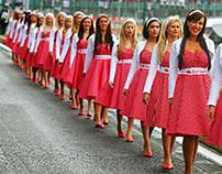 Santander Grid Girls 50aniversario Silverstone