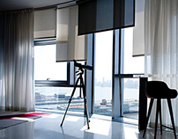 Automated window shades & Curtains at Jean Nouvel condo