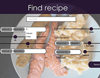Flexible recipes app