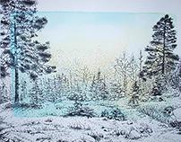 pointillism & watercolor
