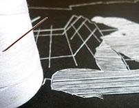 Costurando a cidade (técnica de costura em papel)