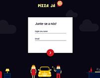 Landing Page Pizza Já