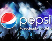 Pepsi World Stage . Banner