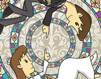 Ilustración de Boda